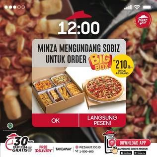Promo Harga PIZZA HUT Big Box  - Pizza Hut