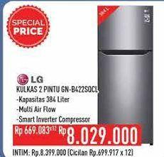 Promo Harga LG GN-B422SQCL   Kulkas 2 Pintu  - Hypermart