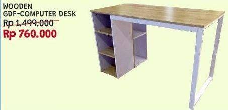 Promo Harga Computer Desk Wooden  - Courts