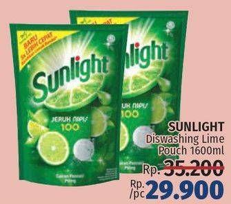 Promo Harga SUNLIGHT Pencuci Piring Jeruk Nipis 100 1600 ml - LotteMart