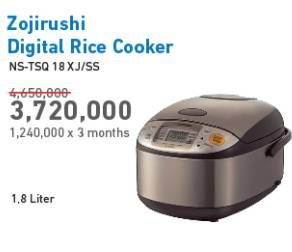 Promo Harga ZOJIRUSHI NS-TSQ 18 Rice Cooker  - Electronic City