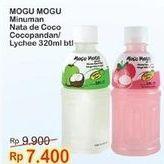 Promo Harga MOGU MOGU Minuman Nata De Coco Kelapa, Leci 320 ml - Indomaret