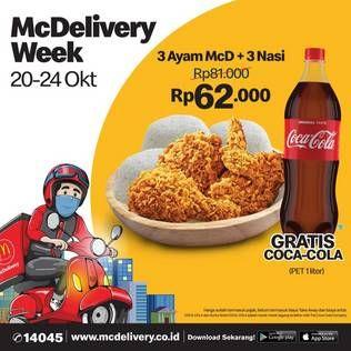 Promo McD Beli 1 Gratis 1 COCA COLA 1ltr