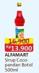 Promo Harga ALFAMART Syrup Cocopandan 500 ml - Alfamart