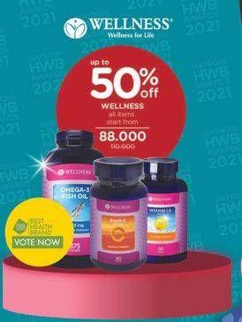 Promo Harga WELLNESS WELLNESS Omega 3/ Excel C/ Vitamin D3  - Watsons