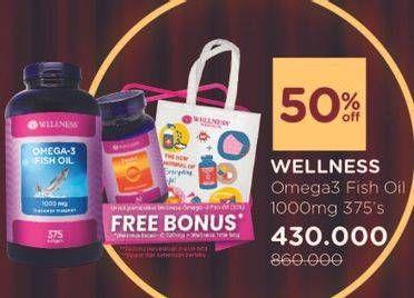 Promo Harga WELLNESS Omega 3 375 pcs - Watsons