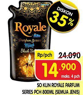 Promo Harga SO KLIN Royale Parfum Collection All Variants 800 ml - Superindo