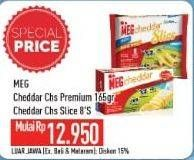 Promo Harga MEG MEG Cheddar Slice/MEG Cheddar Cheese   - Hypermart