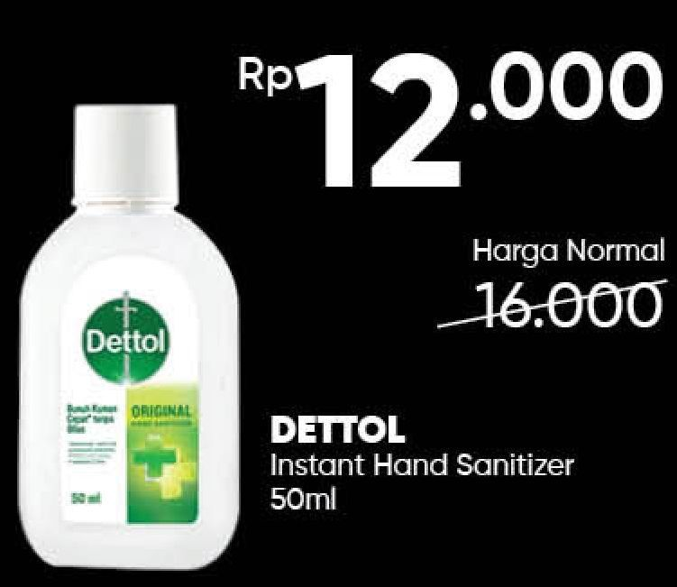 Promo Harga DETTOL Hand Sanitizer 50 ml - Guardian