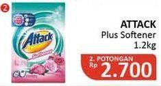 Promo Harga ATTACK Detergent Powder Plus Softener 1200 gr - Alfamidi