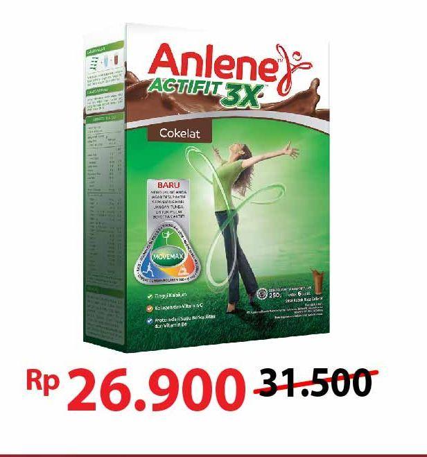 Promo Harga ANLENE Actifit Susu High Calcium Cokelat 250 gr - Alfamart