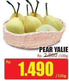 Promo Harga Pear Ya Lie per 100 gr - Hari Hari