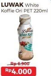 Promo Harga LUWAK White Koffie Ready To Drink Original 220 ml - Alfamart