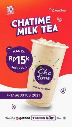 Promo Harga CHATIME Milk Tea  - Chatime