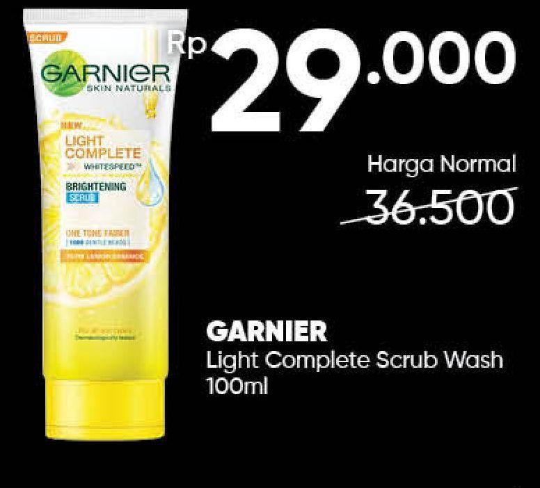 Promo Harga GARNIER Light Complete Brightening Scrub 100 ml - Guardian