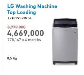 Promo Harga LG T2185VS2M | Mesin Cuci Top Loading 8,5kg  - Electronic City