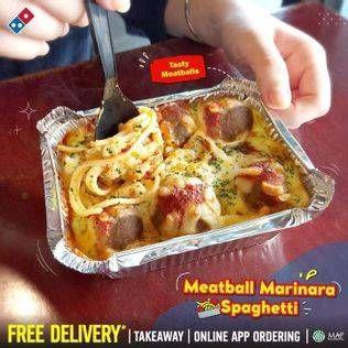 Promo Harga DOMINOS Meatball Marinara Spaghetti  - Domino Pizza