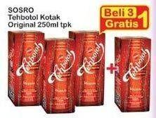 Promo Harga SOSRO Teh Botol Original 250 ml - Indomaret