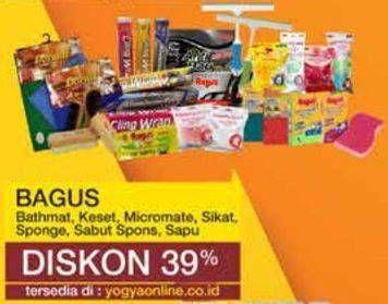 Promo Harga BAGUS Bagus Bathmat/Keset/Micromate/SIkat Sponge/Sabut Sponge  - Yogya