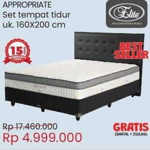 Promo Harga ELITE Appropriate Bed Set 160x200cm  - Courts