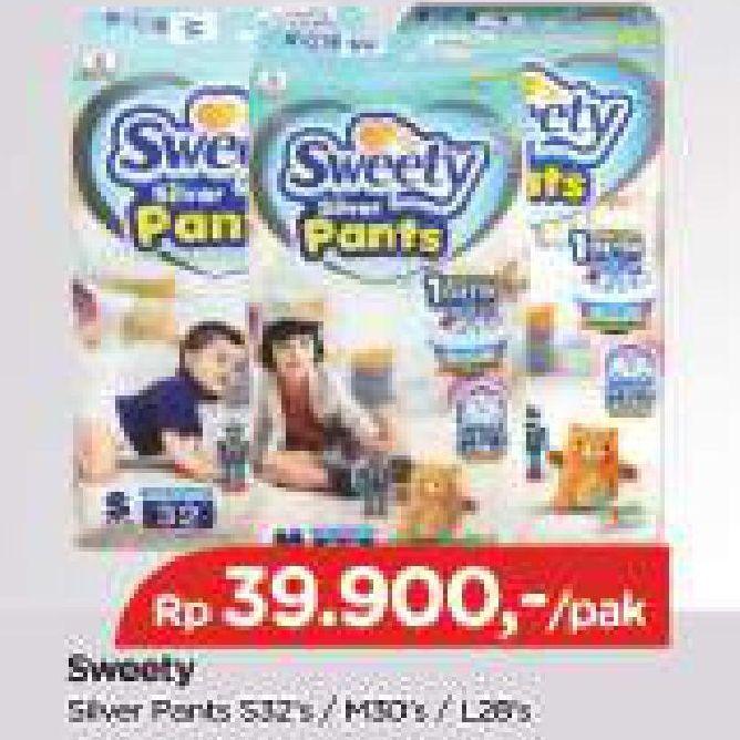 Promo Harga SWEETY Silver Pants S32, L28, M30 28 pcs - TIP TOP