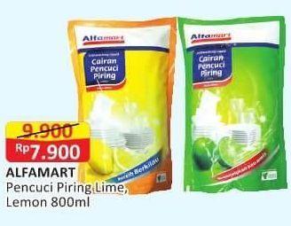 Promo Harga ALFAMART Cairan Pencuci Piring Lemon, Lime 800 ml - Alfamart