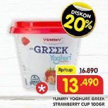 Promo Harga YUMMY Yogurt Strawberry 100 gr - Superindo