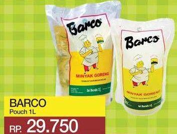 Promo Harga BARCO Minyak Goreng Kelapa 1000 ml - Yogya
