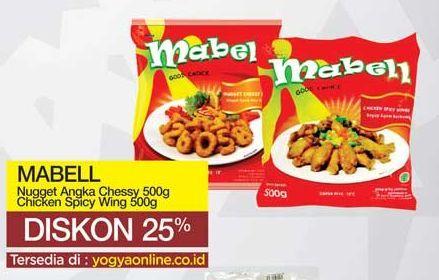 Promo Harga MABELL Mabell Nugget Angka Cheesy 500gr/Mabell Spicy Wing  - Yogya
