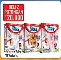 Promo Harga ZEE Platinum Susu Bubuk All Variants 350 gr - Hypermart