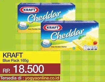 Promo Harga KRAFT Cheese Cheddar 165 gr - Yogya