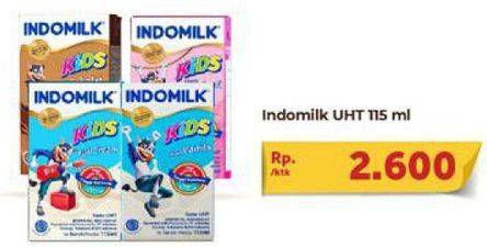 Promo Harga INDOMILK Susu UHT Kids 115 ml - Carrefour