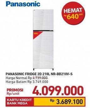 Promo Harga PANASONIC NR-BB210V-S Kulkas 2 Pintu  - Carrefour
