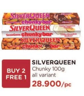 Promo Harga SILVER QUEEN Chunky Bar All Variants 100 gr - Watsons