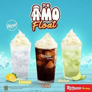 Promo Harga RICHEESE FACTORY Amo Float Cola, Lemon, Melon  - Richeese Factory