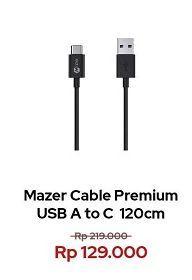 Promo Harga MAZER Premium Cable A to C  - Erafone