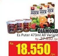 Promo Harga DIAMOND Es Puter All Variants 473 ml - Hari Hari