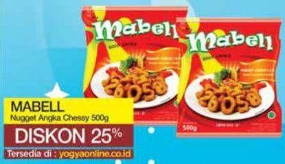 Promo Harga MABELL Nugget Angka Cheesy 500 gr - Yogya