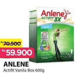 Promo Harga ANLENE Actifit Susu High Calcium Vanila 600 gr - Alfamart