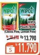 Promo Harga WIPOL Karbol Wangi Cemara, Lemon 780 ml - Hypermart