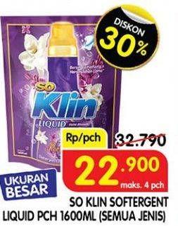 Promo Harga SO KLIN Softergent All Variants 1800 gr - Superindo