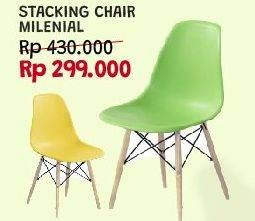 Promo Harga Stacking Chair Millenial  - Courts