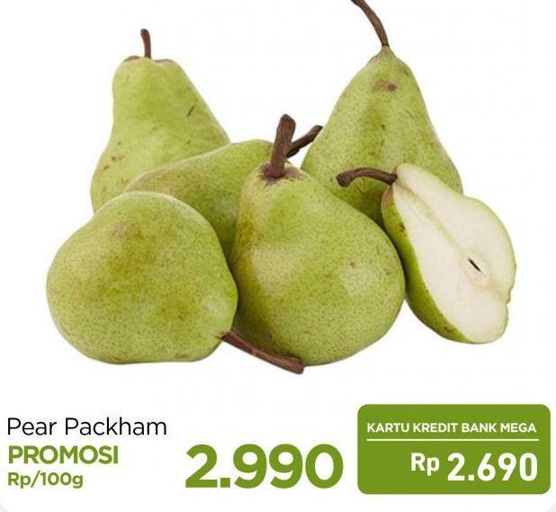 Promo Harga Pear Packham per 100 gr - Carrefour