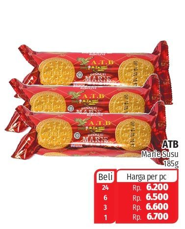 Promo Harga ASIA ATB Marie Susu 185 gr - Lotte Grosir