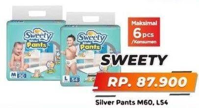 Promo Harga SWEETY Silver Pants L54, M60 54 pcs - Yogya