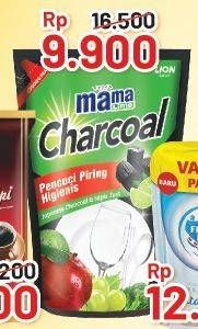 Promo Harga MAMA LIME Cairan Pencuci Piring Charcoal 780 ml - Alfamart