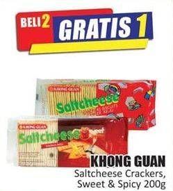 Promo Harga KHONG GUAN Saltcheese 200 gr - Hari Hari