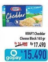 Promo Harga KRAFT Cheese Cheddar 165 gr - Hypermart