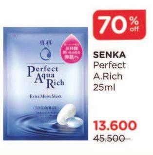 Promo Harga SENKA Perfect Aqua Rich Mask All Variants 25 ml - Watsons