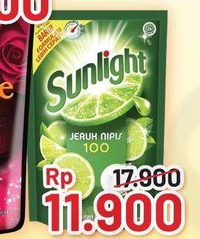 Promo Harga SUNLIGHT Pencuci Piring Jeruk Nipis 100, Anti Bau With Daun Mint, Higienis Plus With Habbatussauda 755 ml - Alfamart